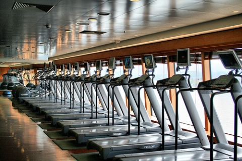 Fitness Center con vistas al mar