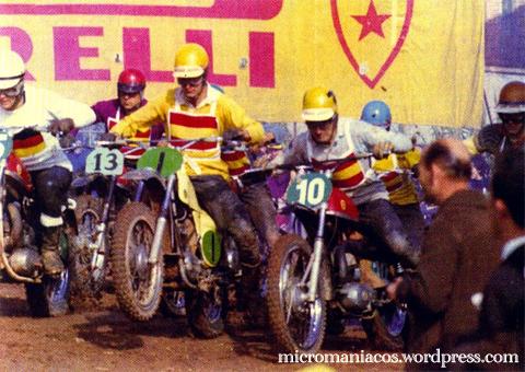 Oriol en una salida con su Bultaco